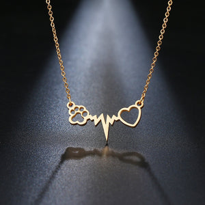 Human-Cat Connection Necklace