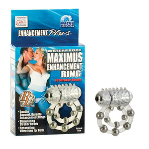 Waterproof Maximus Enhancement Ring - 10 Stroker Beads