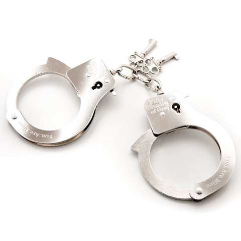 Fifty Shades of Grey You Are Mine Metal Handcuffs - Jojo's Secret
