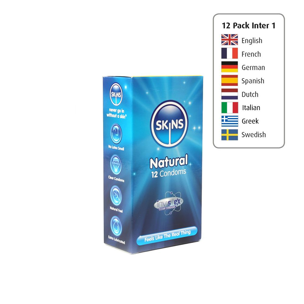 Skins Condoms Natural 12 Pack International 1