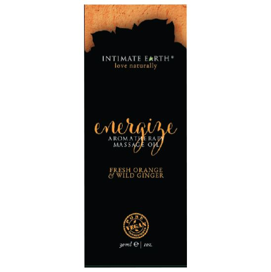 Intimate Earth Massage Oil 30ml/1 oz Foil - Energize