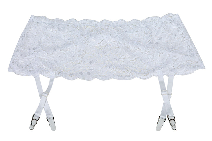 Shirley of Hollywood SoH 20146 Lace Suspender Belt White One Size