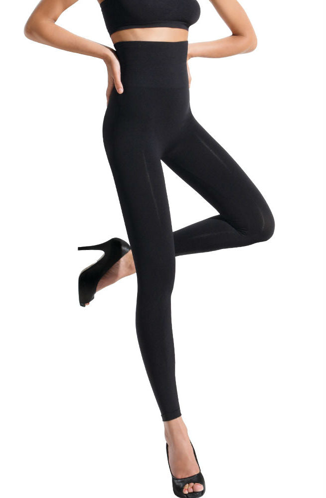 Control Body 610127Y High Waist Shaping Leggings Nero