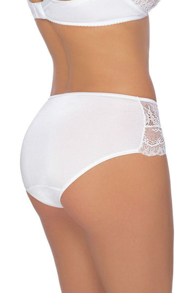 Roza | Ambre Boxer Brief | White | Small, Medium, Large, XLarge | 8, 10, 12, 14, 16 | Sexy Lingerie Boutique | Flattering Knickers