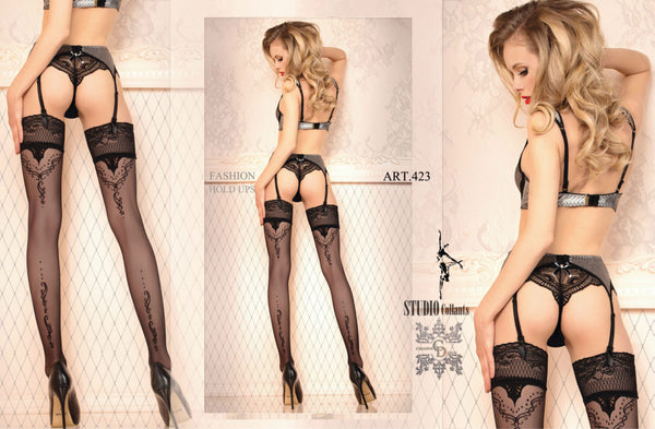 Ballerina 423 Hold Ups Nero (Black)