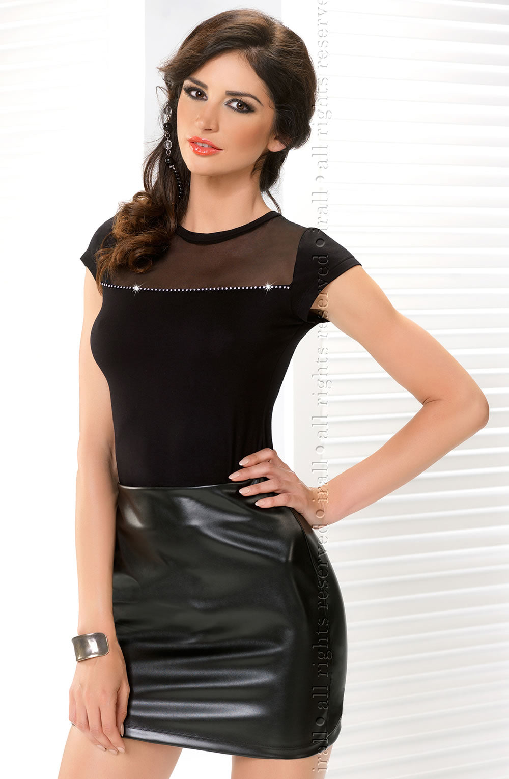 Irall Erotic Irall Enrica Mini Skirt Black