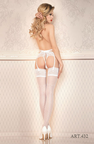 Ballerina 432 Hold Ups White