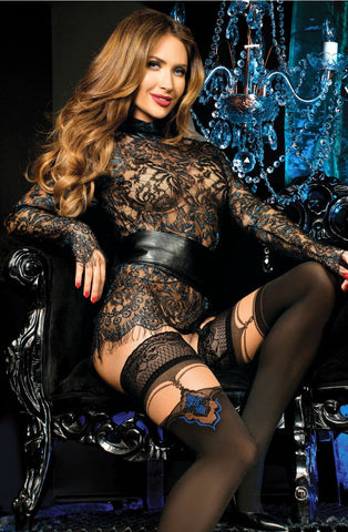 Ballerina 443 Hold Ups Nero (Black) / Skin