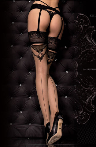 Ballerina 314B Hold Ups Nero (Black)