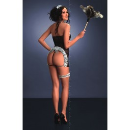 Me Seduce - Flavia - Maids Costume - Black/White