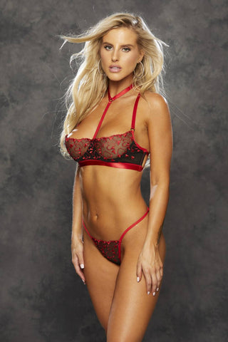 Shirley of Hollywood 25795 Heart Embroidery Bra Set
