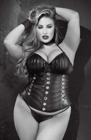 Shirley of Hollywood SoH X31065 - Corset Faux leat