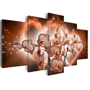 Moth Orchid Flowers 5 Piece HD Multi Panel Canvas Wall Art Frame