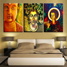 Diverse Buddhism 3 Piece HD Multi Panel Canvas Wall Art Frame