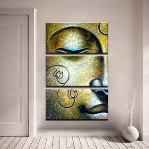 Buddha Paintings 3 Piece HD Multi Panel Canvas Wall Art Frame