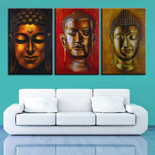 Buddha Statue Painting 3 Piece HD Multi Panel Canvas Wall Art Frame