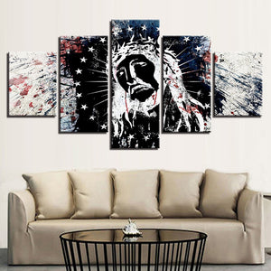 Jesus Christ 5 Piece HD Multi Panel Canvas Wall Art Frame