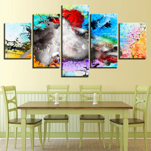 Abstract Horse 5 Piece HD Multi Panel Canvas Wall Art Frame