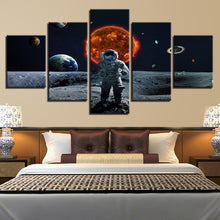 Astronaut In Space 5 Piece HD Multi Panel Canvas Wall Art Frame