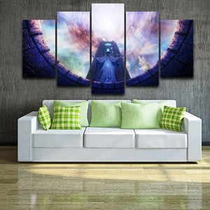 Game Statues  5 Piece HD Multi Panel Canvas Wall Art Frame