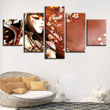 Flower Girl 5 Piece HD Multi Panel Canvas Wall Art Frame