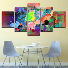 Abstract Elephants 5 Piece HD Multi Panel Canvas Wall Art Frame