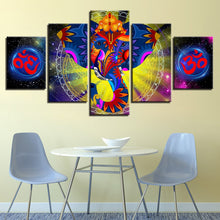 India Elephant Ganesha 5 Piece HD Multi Panel Canvas Wall Art Frame