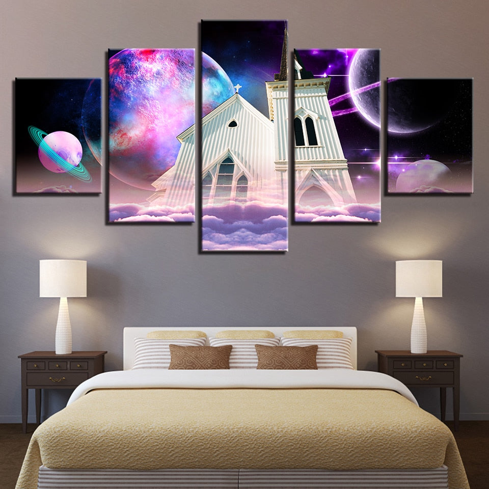 House of God 5 Piece HD Multi Panel Canvas Wall Art Frame