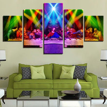 Jesus And Flashing Light Lamp 5 Piece HD Multi Panel Canvas Wall Art Frame