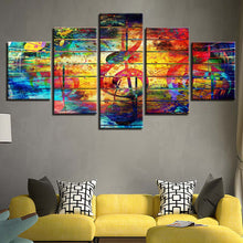 Colors of Music 5 Piece HD Multi Panel Canvas Wall Art Frame