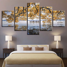 River Shades 5 Piece HD Multi Panel Canvas Wall Art Frame
