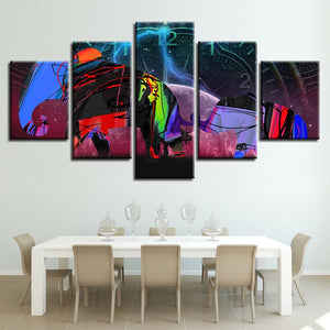 Abstract Elephant Graffiti 5 Piece HD Multi Panel Canvas Wall Art Frame
