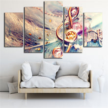 Abstract Music Note 5 Piece HD Multi Panel Canvas Wall Art Frame