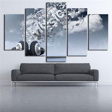 Music Symbols 5 Piece HD Multi Panel Canvas Wall Art Frame