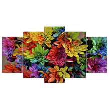 Multi-Color 5 Piece HD Multi Panel Canvas Wall Art Frame
