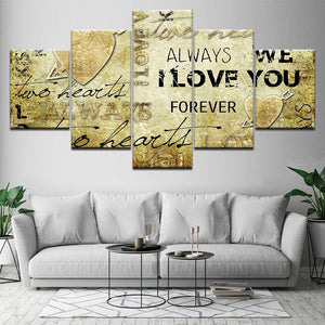 Art Love 5 Piece HD Multi Panel Canvas Wall Art Frame