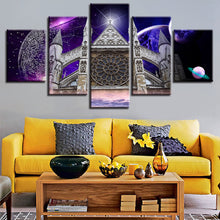 Westminster Abbey 5 Piece HD Multi Panel Canvas Wall Art Frame