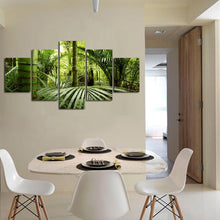 Nordic Green Forest 5 Piece HD Multi Panel Canvas Wall Art Frame