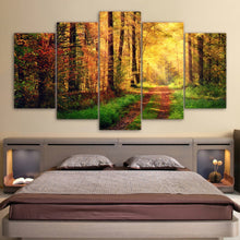 Sunshine Autumn Scenery 5 Piece HD Multi Panel Canvas Wall Art Frame