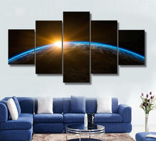 Light from the Horizon 5 Piece HD Multi Panel Canvas Wall Art Frame