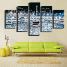 Holy Makkah 5 Piece HD Multi Panel Canvas Wall Art Frame