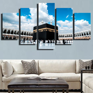 Ground And Sky 5 Piece HD Multi Panel Canvas Wall Art Frame