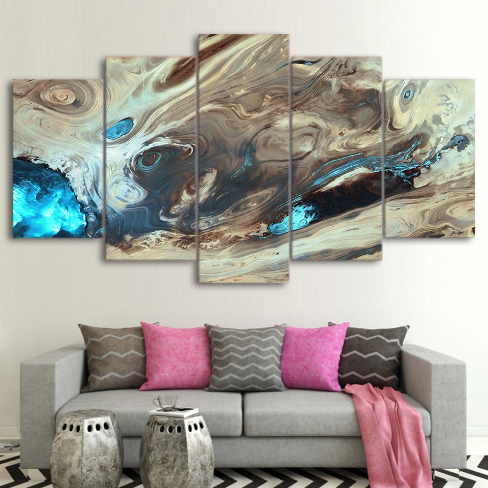 Large Graffiti Canvas Print Wall Art Picture Abstract Design 4 Panel X Large