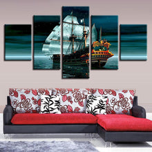 Boat Sea Stars 5 Piece HD Multi Panel Canvas Wall Art Frame