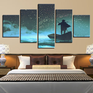 Juvenile Boating 5 Piece HD Multi Panel Canvas Wall Art Frame