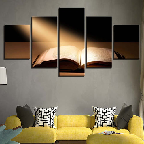 Bible Under The Sun 5 Piece HD Multi Panel Canvas Wall Art Frame