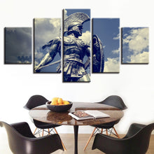 Trojan Warrior 5 Piece HD Multi Panel Canvas Wall Art Frame