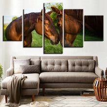 Horse Couple 5 Piece HD Multi Panel Canvas Wall Art Frame