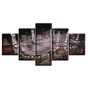 Mosque 5 Piece HD Multi Panel Canvas Wall Art Frame
