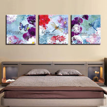Butterfly Canvas 3 Piece HD Multi Panel Canvas Wall Art Frame